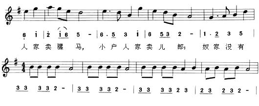 二胡凤阳花鼓简谱